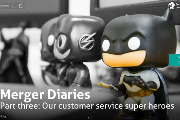 customer services merger diary cover2